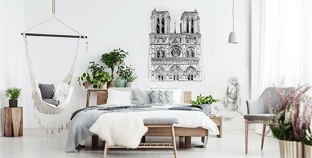 Vinilo con la catedral de Notre Dame