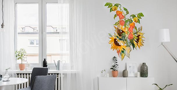 Vinilo con un soleado ramo