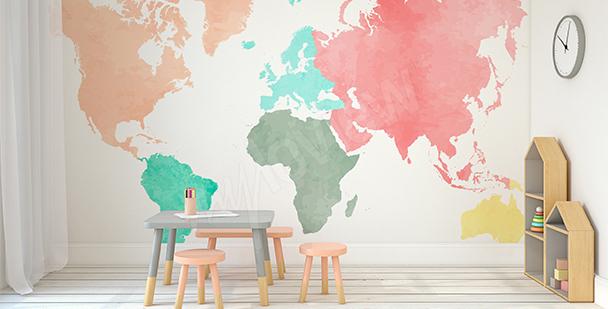 Vinilo continentes pastel