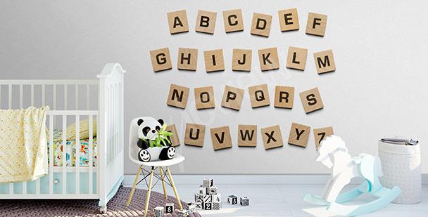 Vinilo cuadrados con letras