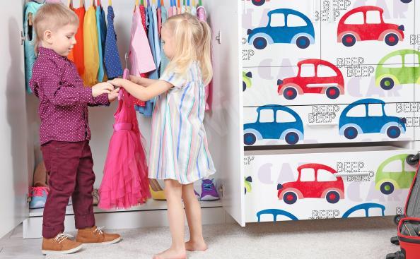Vinilo de armario para niños