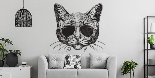 Vinilo de gato para sala