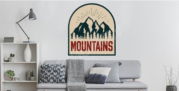 Vinilo de montaña retro