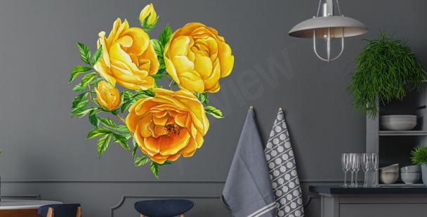 Vinilo de pared floral