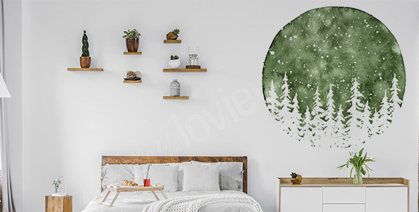 Vinilo de pared para dormitorio