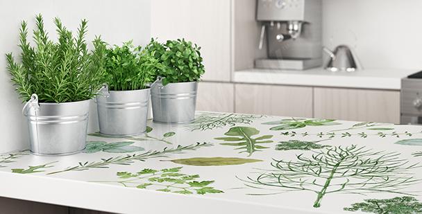 Vinilo de plantas para la cocina