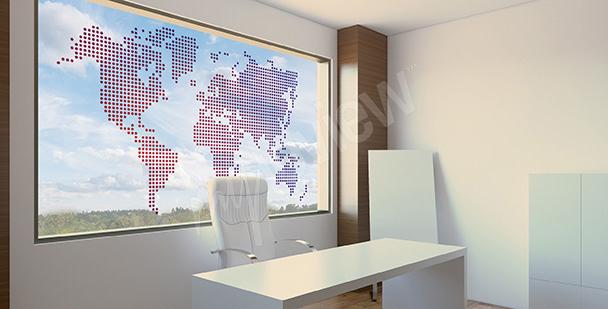 Vinilo de vitral mapa