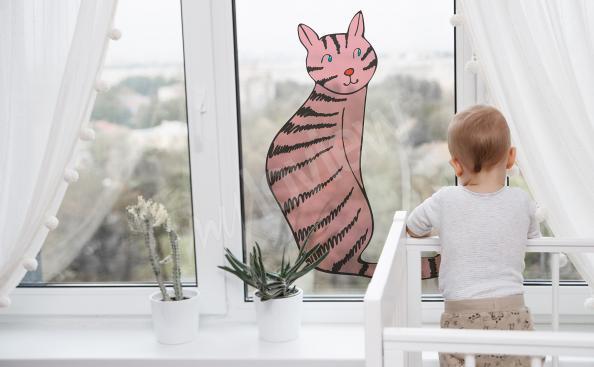 Vinilo de vitral para la habitación de un niño