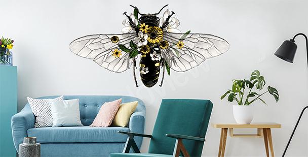 Vinilo decorativo con abeja