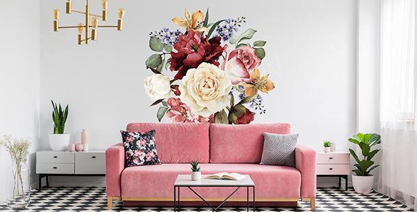 Vinilo decorativo con flores