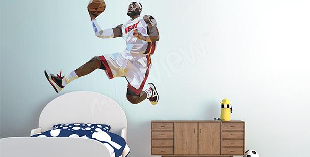 Vinilo deportivo LeBron James