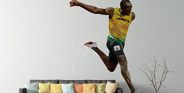 Vinilo deportivo Usain Bolt