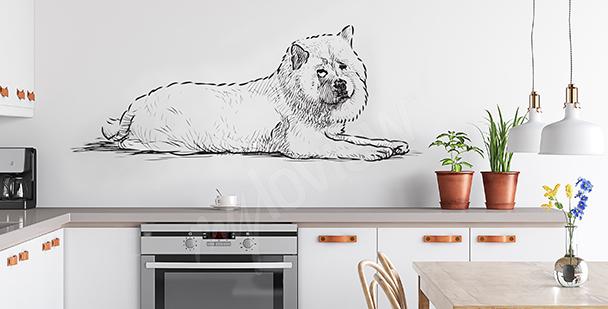 Vinilo dibujado perro