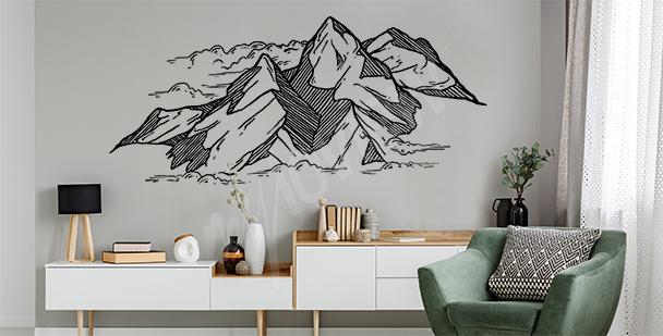 Vinilo dibujo de montañas