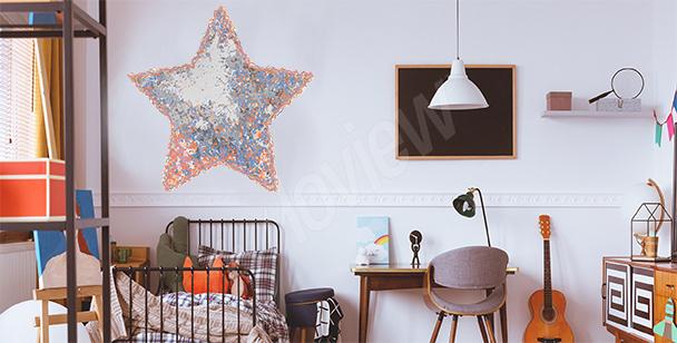 Vinilo estrella de habitación de un niño