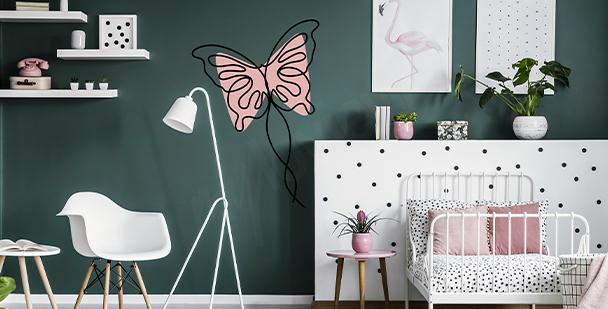 Vinilo femenino con mariposa