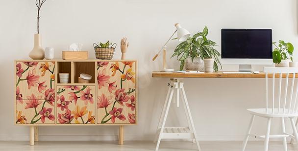Vinilo floral colorido