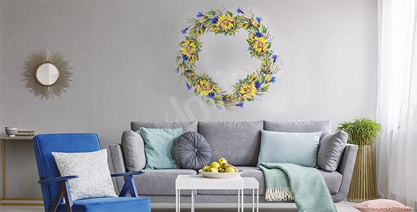 Vinilo floral corona