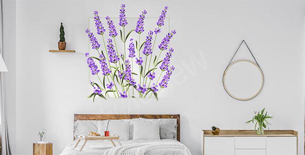 Vinilo floral de pared