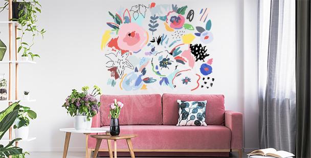 Vinilo flores abstractas
