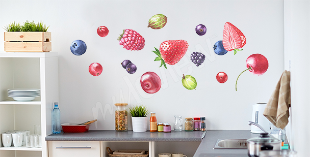 Vinilo frutas para la cocina