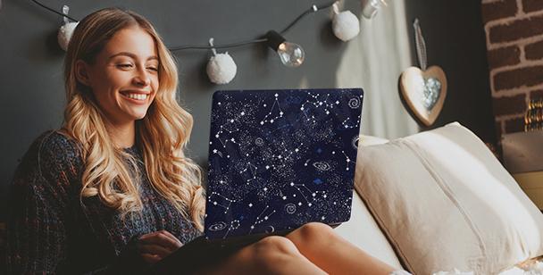 Vinilo Galaxy para ordenador