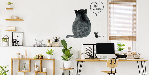 Vinilo gato y ratón