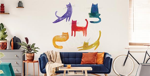 Vinilo gatos coloridos