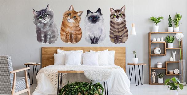 Vinilo gatos para el dormitorio