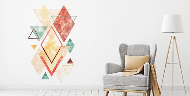 Vinilo geometría colorida
