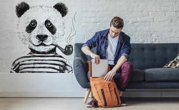 Vinilo hipster panda