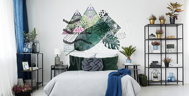 Vinilo hojas y triángulos