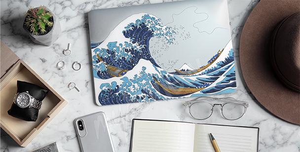 Vinilo Hokusai - Ola gigante