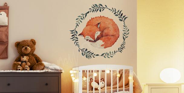 Vinilo infantil con un zorro