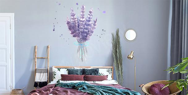Vinilo lavanda para dormitorio