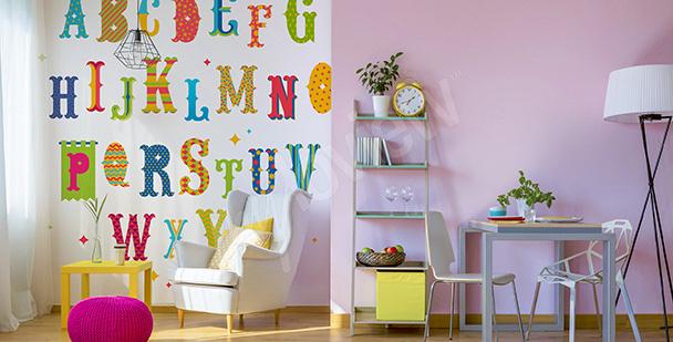 Vinilo letras coloridas para niños