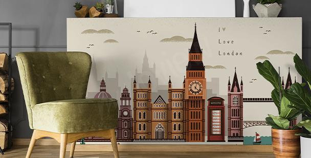 Vinilo Londres y arquitectura