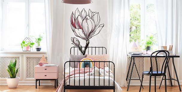 Vinilo magnolia blanca para un niño