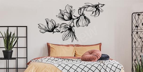 Vinilo magnolia para el dormitorio