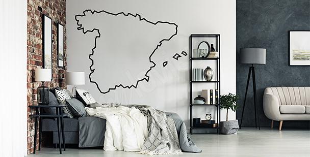 Vinilo mapa contorneado de España