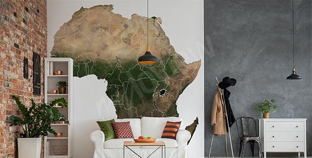 Vinilo mapa de África para una sala de estar
