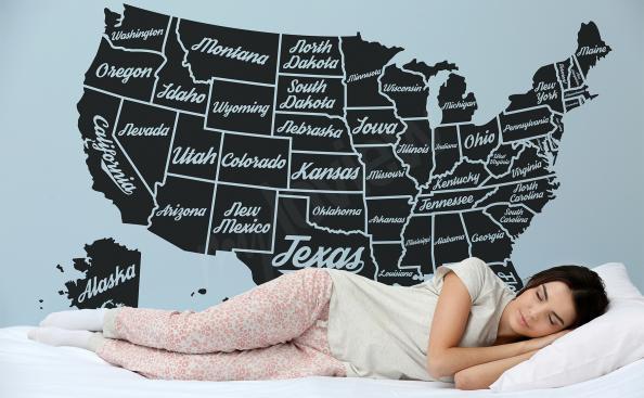 Vinilo mapa de EE UU