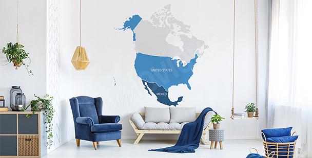 Vinilo mapa político de América