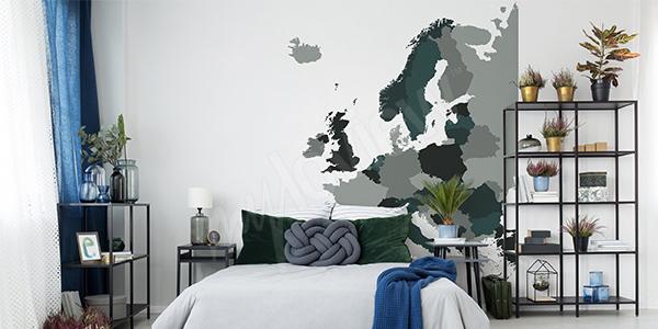 Vinilo mapa político de Europa