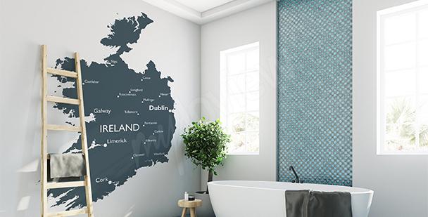 Vinilo mapa político de Irlanda