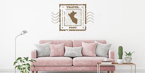 Vinilo mapa retro Perú