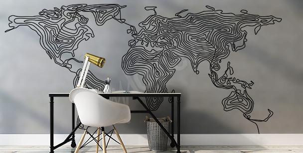 Vinilo mapamundi moderno