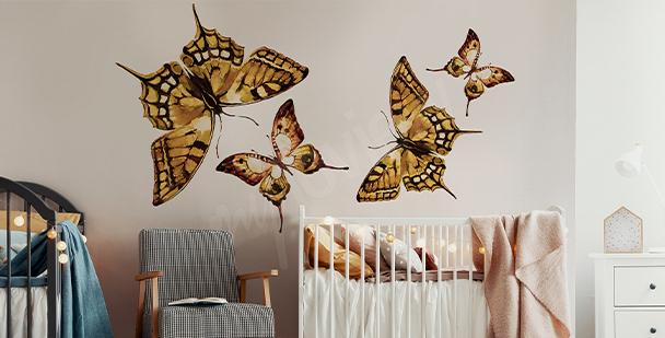 Vinilo mariposa para cuarto infantil