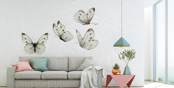 Vinilo mariposas de color sepia