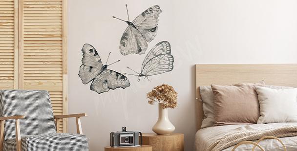 Vinilo mariposas para dormitorio